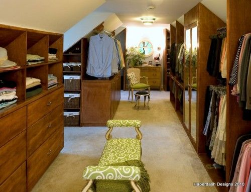 love this design for a converted attic closet.