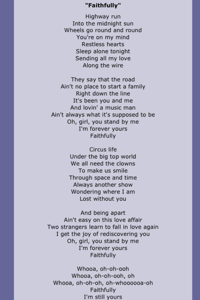Journey Great Song Lyrics Lyrics Soul Songs