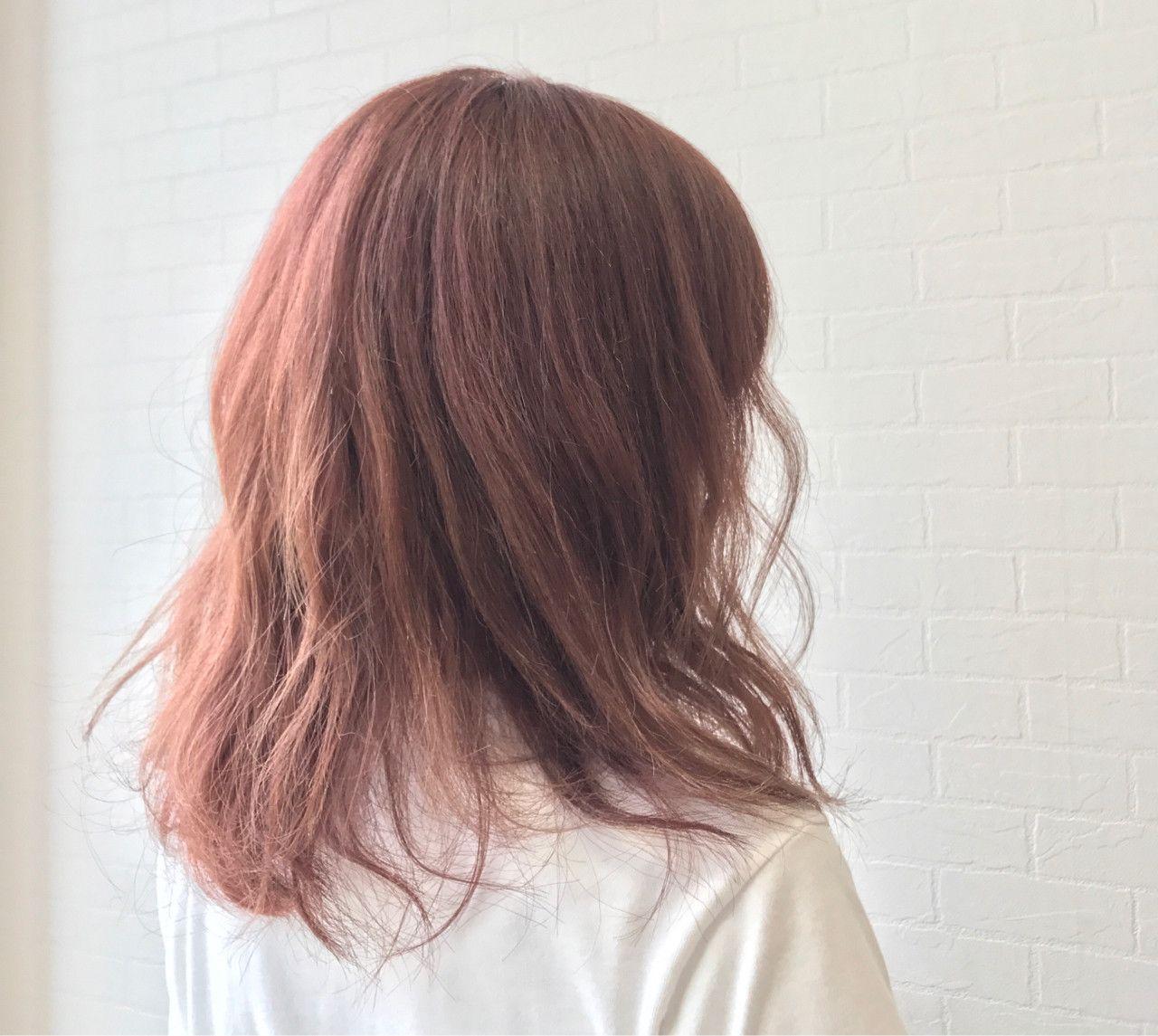ピンクベージュヘアカラーでモテ髪に ブリーチありなしも比較 2020