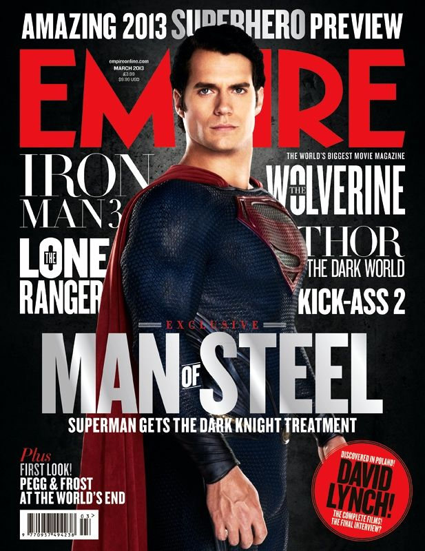 Une Cover Collector Man Of Steel Pour Le Magazine Empire Henry - Magazines look superheroes real