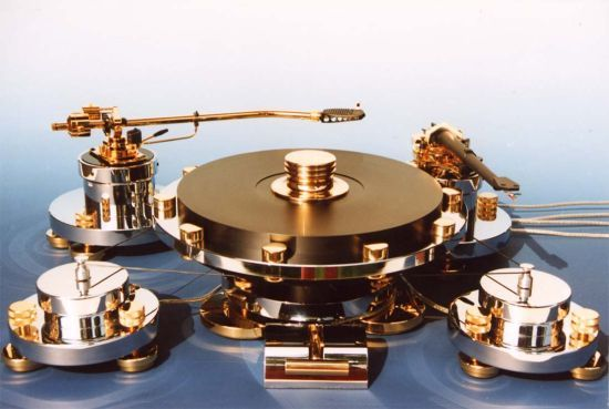 Gold turntable