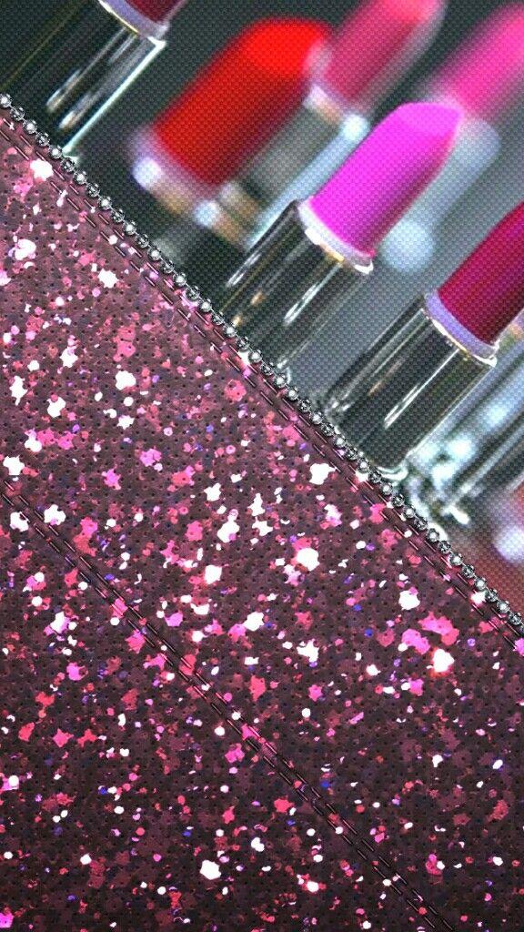 lipstick glitter bling madebyniki Bling wallpaper