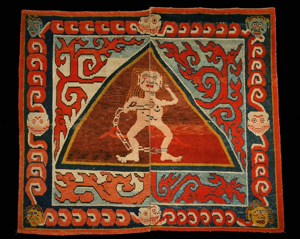 Two Striking Tibetan Rugs Are Amongst The 120 Objects That Feature In Tibets Secret Temple Body Mind And Meditation Tantric Buddhism On Show At