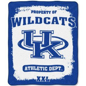 """NCAA Kentucky Wildcats 50-Inch-by-60-Inch Micro Plush Raschel Throw """"Property Of"""" Design (Apparel) For Private Sale Only at JustSell.me.  Use the power of your social connections to Just Sell your old or unwanted stuff."""
