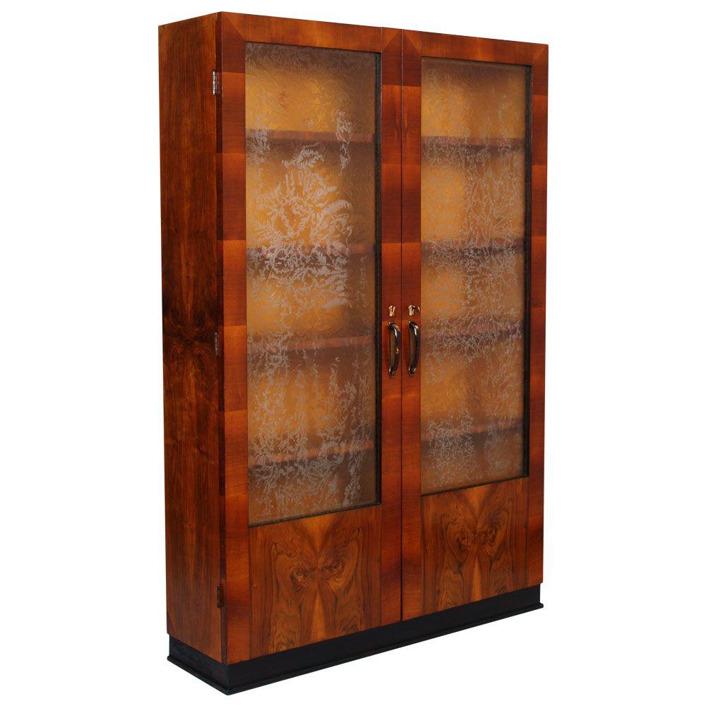1930s art deco showcase bookcase