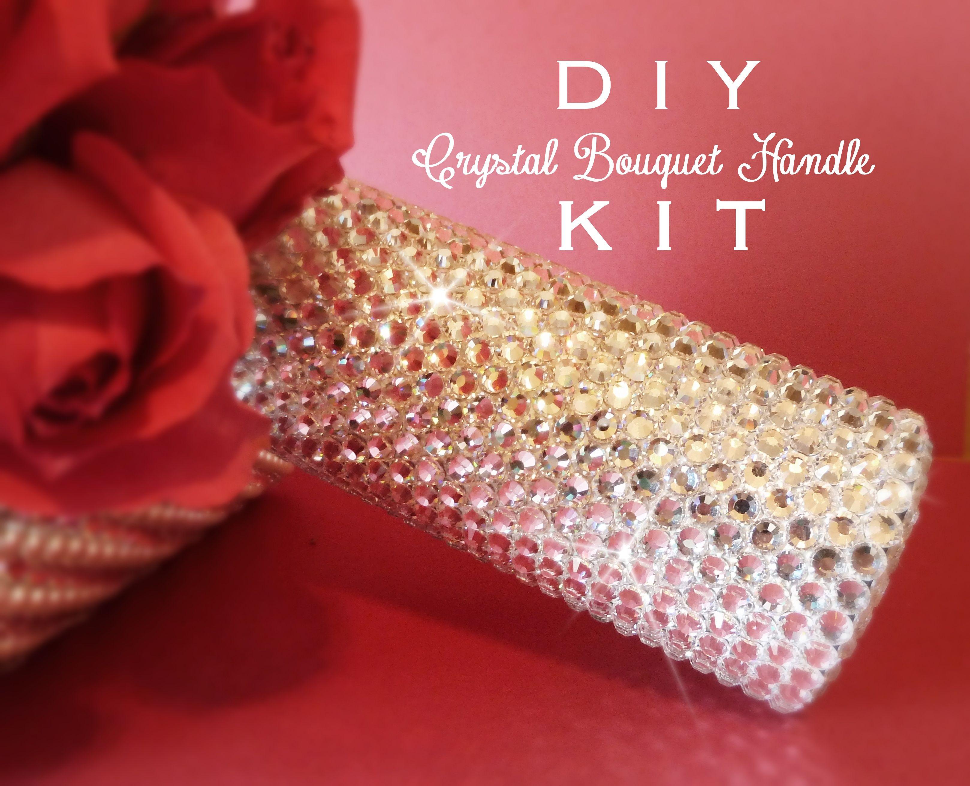 Diy Crystal Bridal Bouquet Handle Holder Kit For The Bride