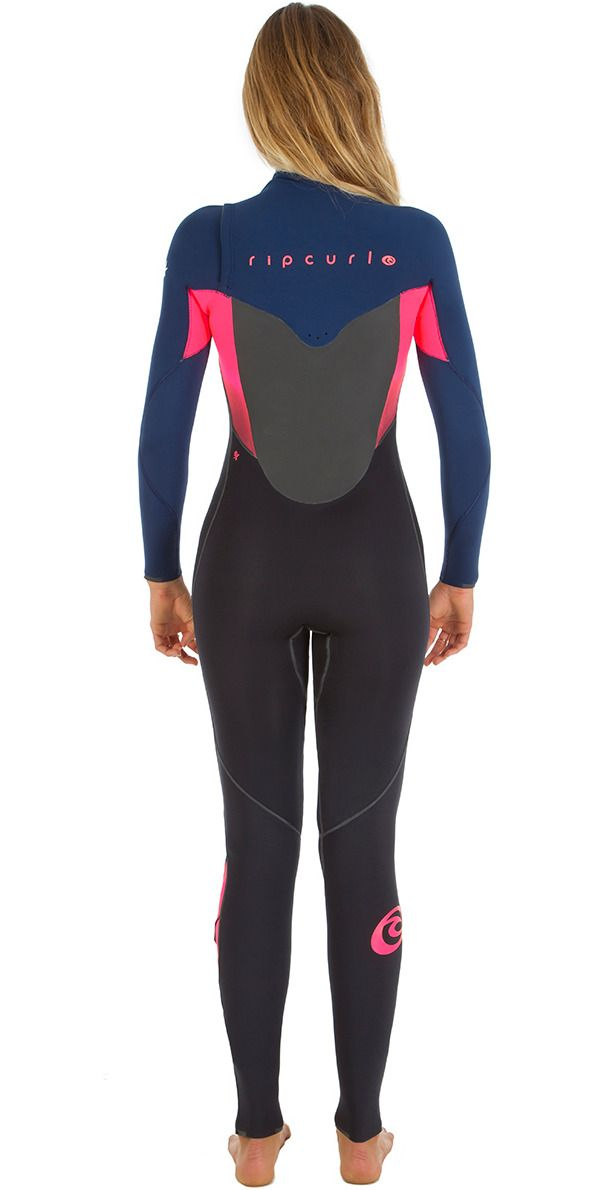2016 Rip Curl Ladies Flashbomb 5 3mm Chest Zip Wetsuit NAVY WSM5GG ... 39e40c4ad