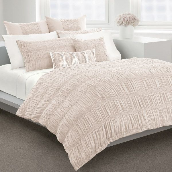 Dkny Willow Blush Duvet Cover 100 Cotton 230 Thread Count Bed Bath Beyon Blush Duvet Duvet Covers Duvet Sets