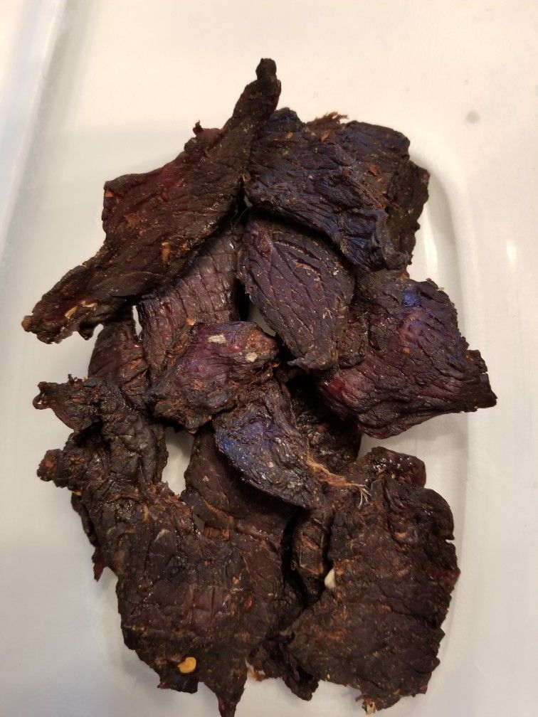 Beef jerky, made in the Power Air Fryer Beef jerky