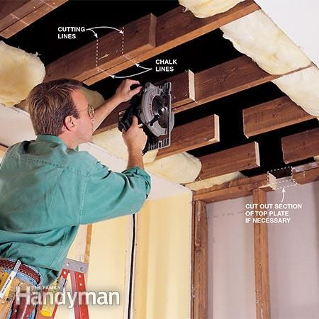 How To Install A Load Bearing Beam Home Repair Interior