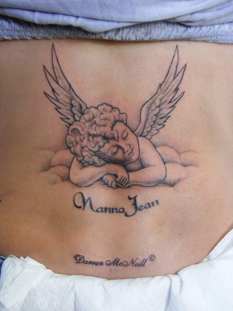 Tatouage Ange Qui Prie Ventre Femme Tr53av Tatouage Tatouage