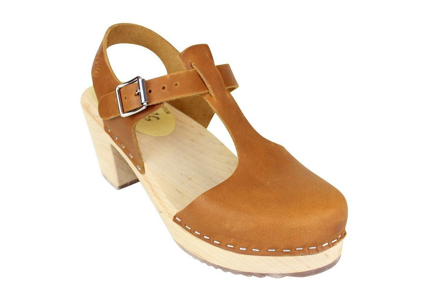 Lotta From Stockholm Highwood T-Bar Clogs in Brown Oiled Nubuck - only $95 on Amazon!!!