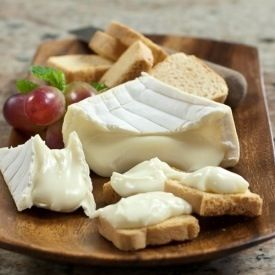 Brebicet Giulloteau Square chees that a mild zesty flavor from the Rhone Alps of France this soft smooth cheese is made of sheep's milk and has a 50% fat content