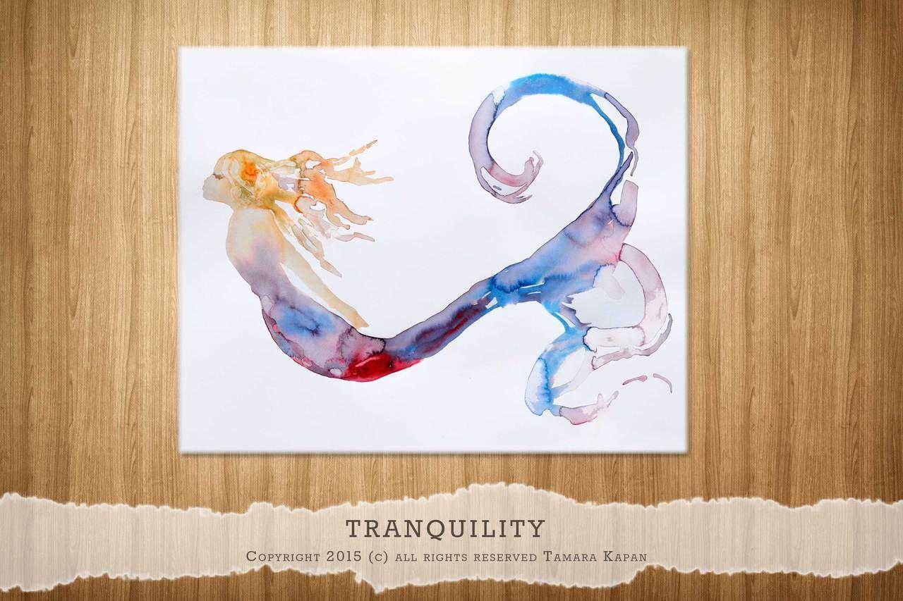 Tranquility Mermaid Painting by Tamara Kapan