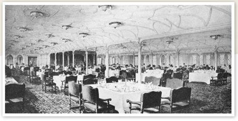 First class dining saloon. Over 500 people could dine in luxury in ...