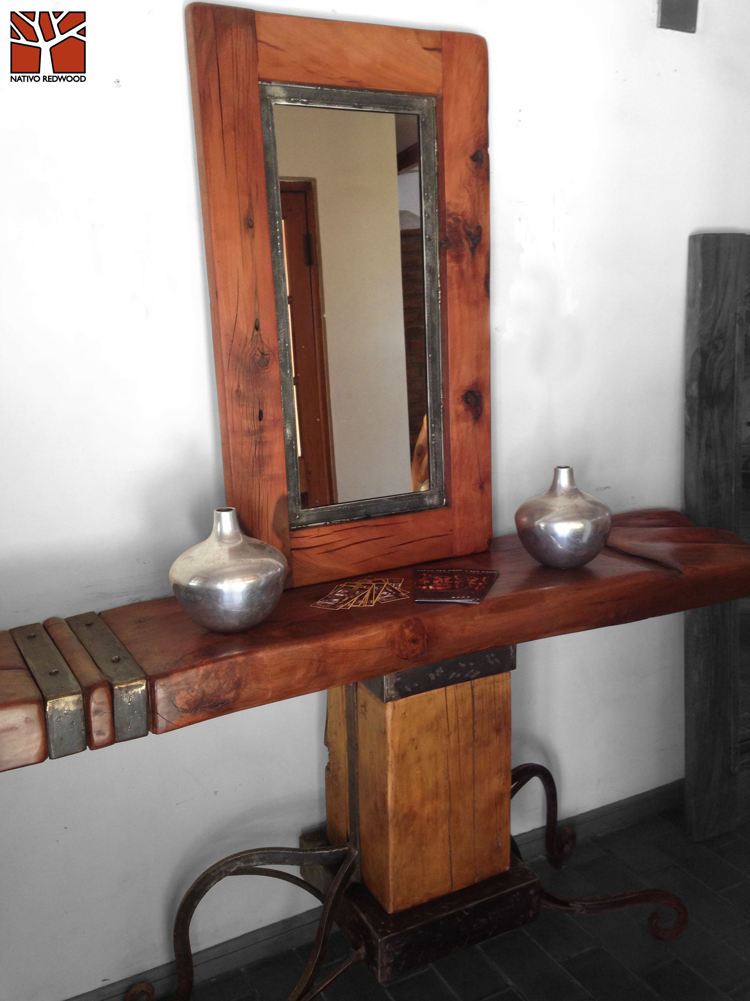 Pin de Nativo Red Wood S.A en Espejos Maderas Steelwood con Fierro ...