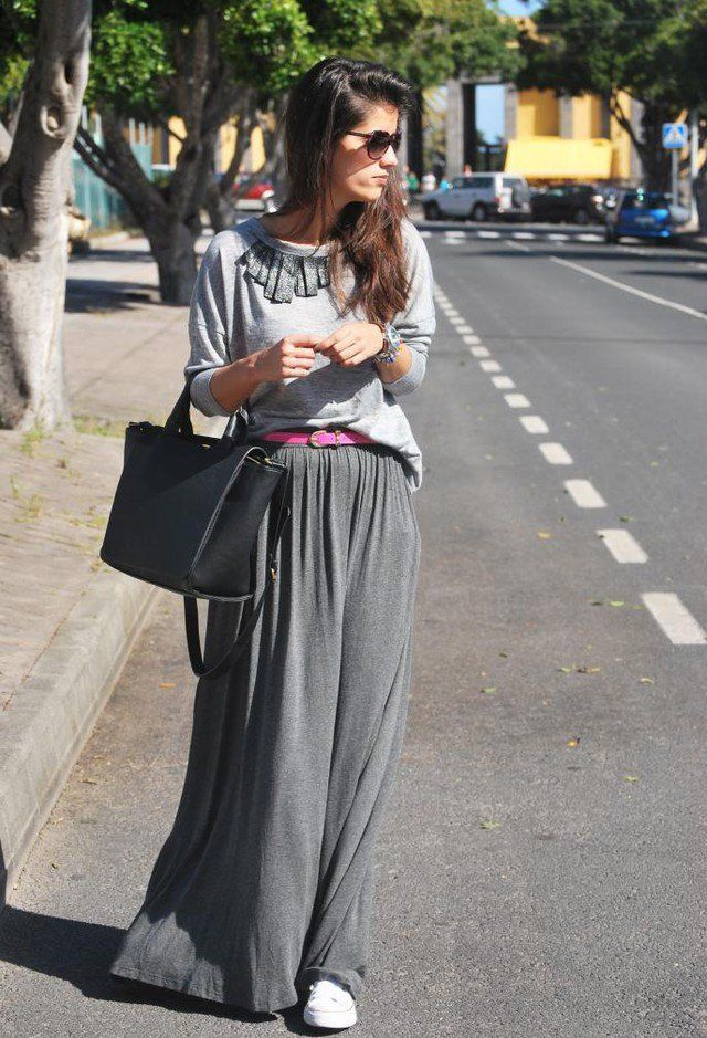 7d9270006e9 34 Fashionable Casual Combinations With Long Skirts For This Fall ...