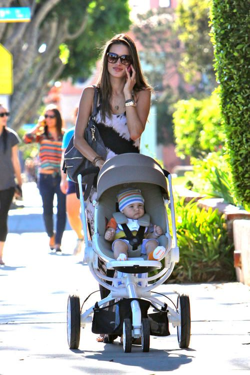 Spotted: Alessandra Ambrosio Taking Her Son Noah For A Stroll In Our Quinny  Moodd!