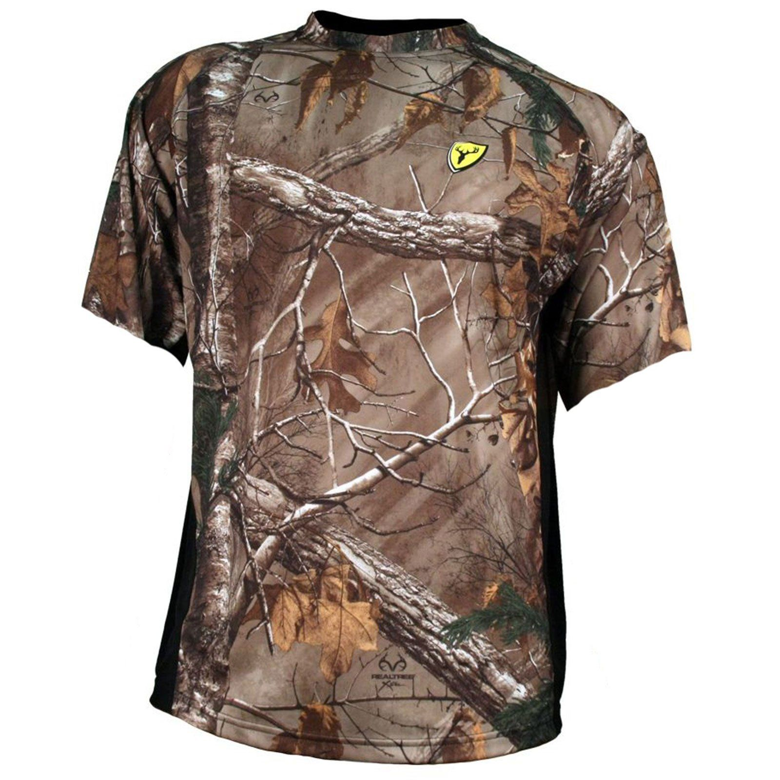 327111c8a ScentBlocker Men's 8th Layer Short Sleeve Shirt, Realtree Xtra, XX-Large.  Lightweight