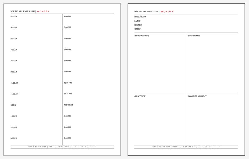 Week In The Life Thoughts On The Process \ Daily Sheet PDF (July - daily task sheet template