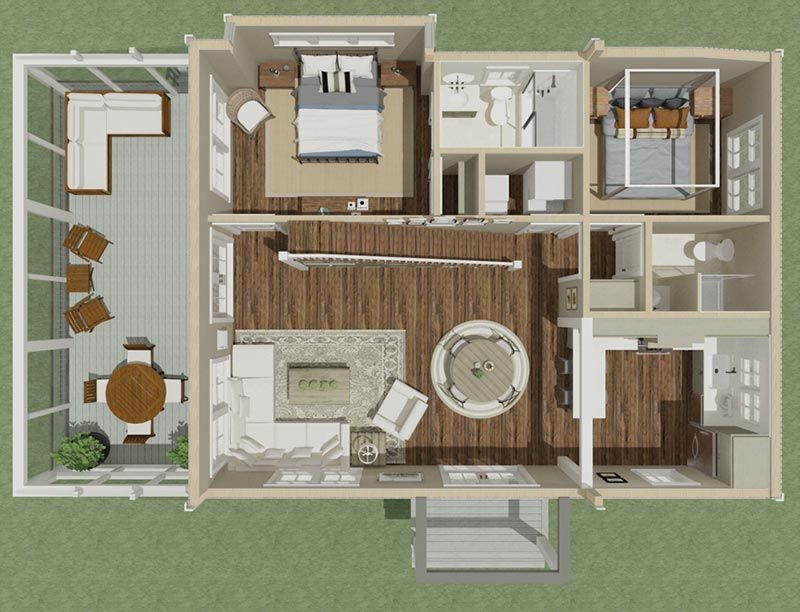 Plan 130011lls Cozy 2 Bed Farmhouse Cottage With Loft Farmhouse Cottage Plans House Plan With Loft Cottage Plan