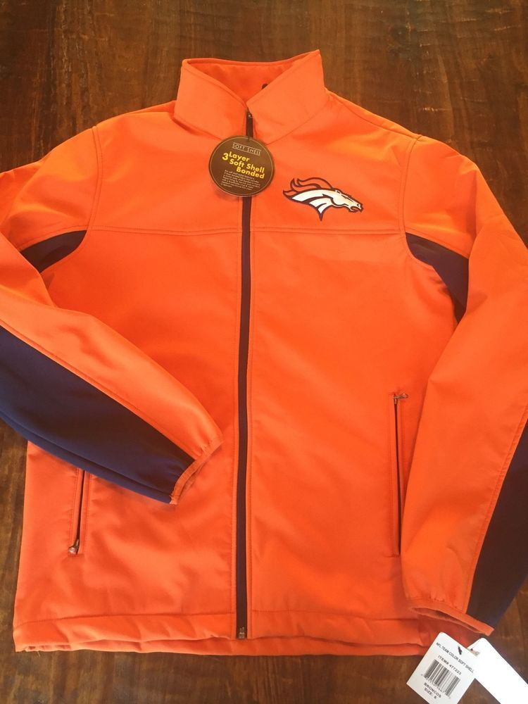 new style 738ff fb6b8 Nwt Denver #Broncos #NFL Team Color Soft Shell Coat Water ...