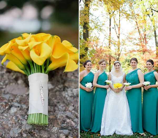 A Classic Teal & Yellow Rose Hill Manor Wedding | Bliss, Wedding and ...
