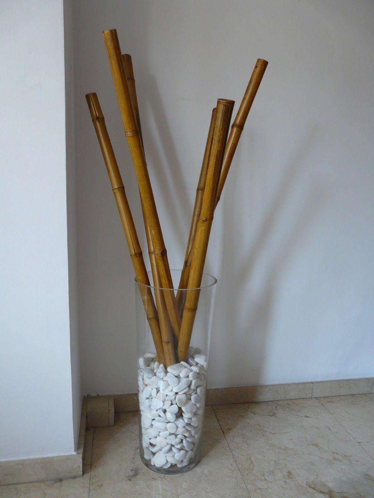Jarrones con piedras buscar con google decore - Jardineras con bambu ...