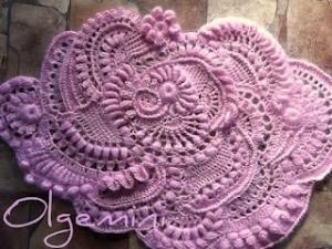 Crochet freeform motif tutorial without cutting thread by Marwooz