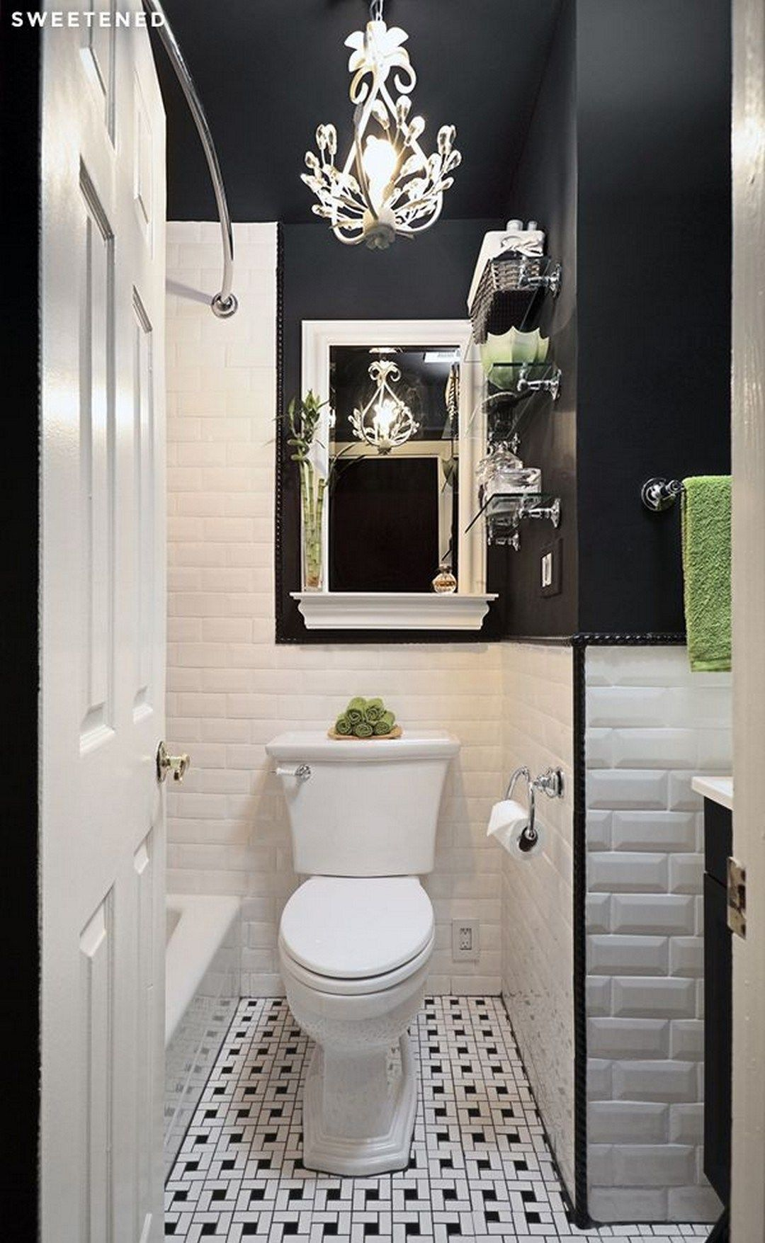 Get Inspired with 20 Luxury Black and White Bathroom ...