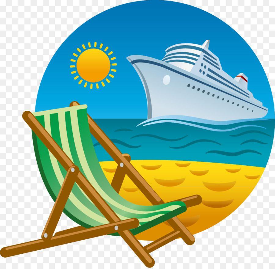 38+ Beach chair cartoon clipart info