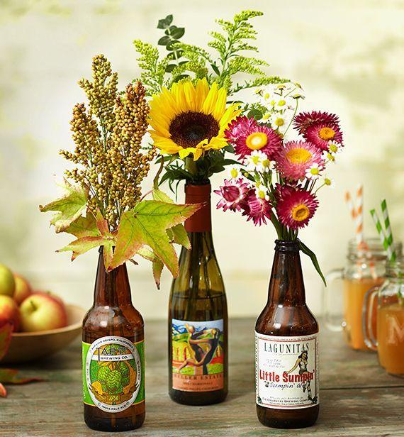 Flower Arrangements In Wine Bottles: Vacation Memories. Flower VasesTable FlowersFlower