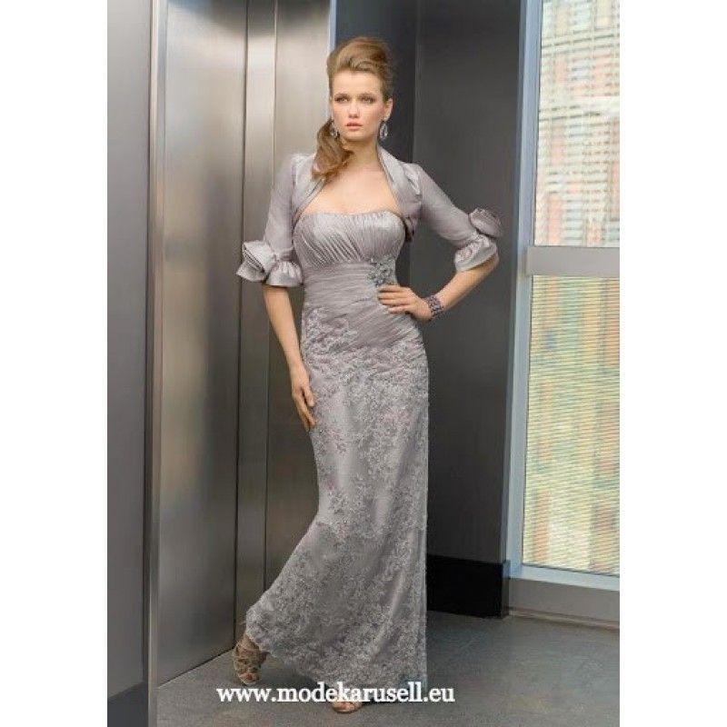 1670926a235cb1 Luxus Stickereien Abendkleid Lang mit Bolero | Abendkleider in 2018 ...