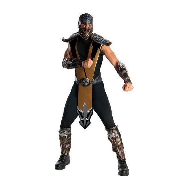 Disfraz Scorpion, Mortal Kombat   para hombre super heroe ...