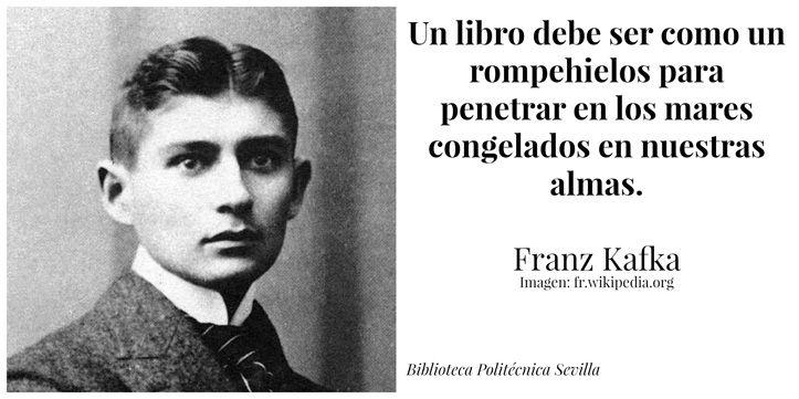 ... Un libro debe ser como un rompehielos para penetrar en los mares congelados en nuestras almas. Franz Kafka.