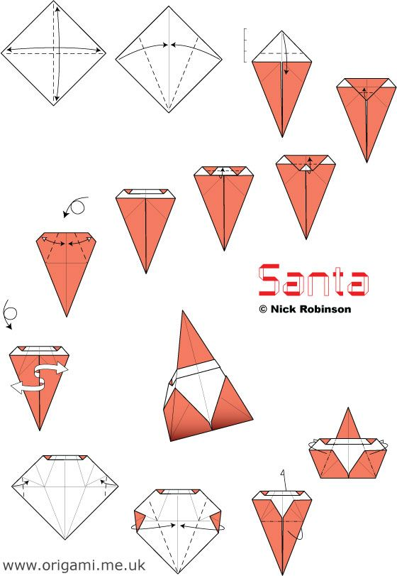Santa Model Doblar Pinterest Origami Christmas Origami And Santa
