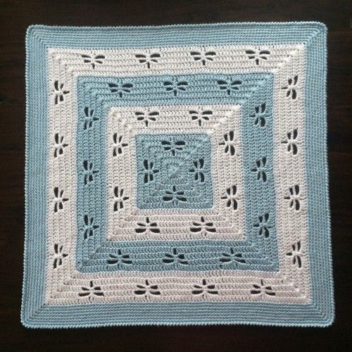 Radiating Dragonflies Throw Free Pattern Crochet For