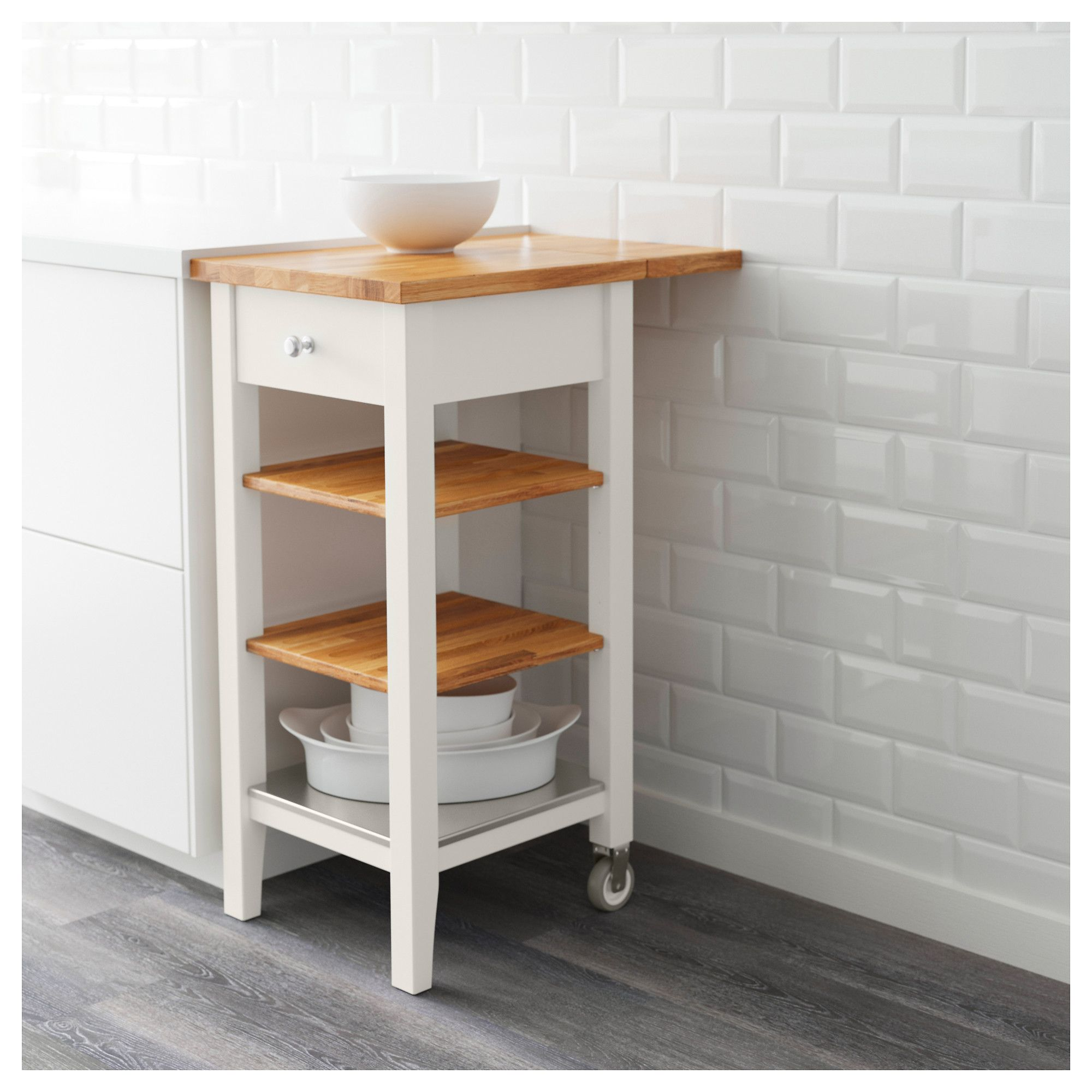IKEA   STENSTORP Kitchen Cart White, Oak