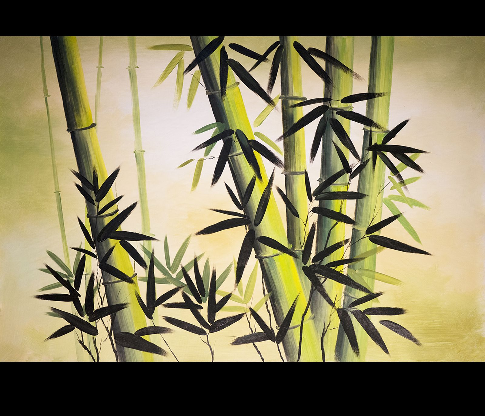 Chinese Bamboo painting is for home and office Feng Shui decor ...