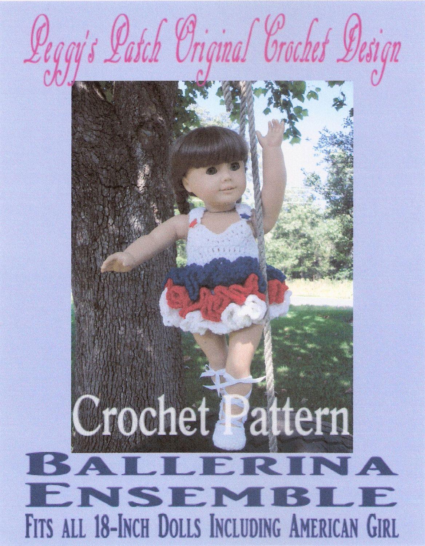 Crochet Pattern Ballet Dance Leotard With Full Ruffled Tutu And