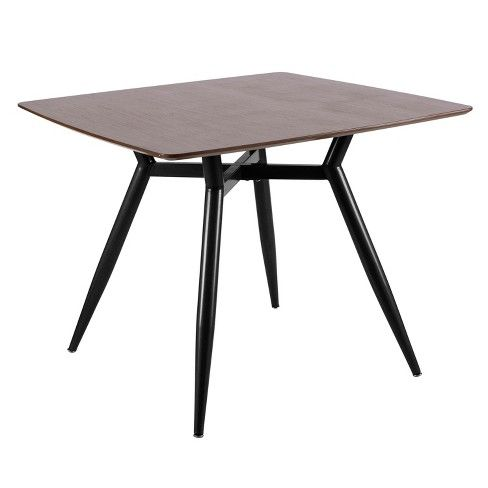contemporary square dining table large clara mid century modern square dining table lumisource target