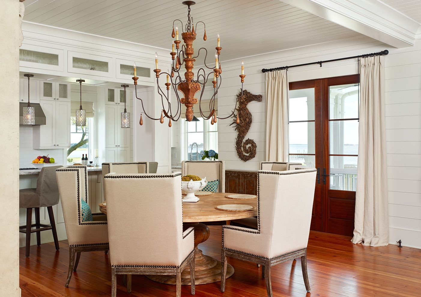 Driftwood Seahorse In Dining Room By Home Builder Charleston SC STRUCTURES For Another