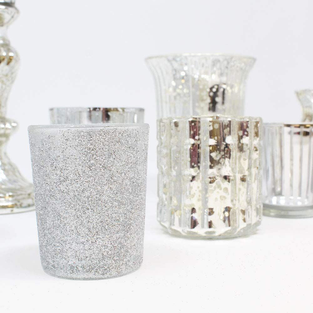 These Silver Votive Candle Holders Are The Perfect Tabletop Accessory And Such An Easy Way To Candle Holders Glass Votive Candle Holders Votive Candle Holders