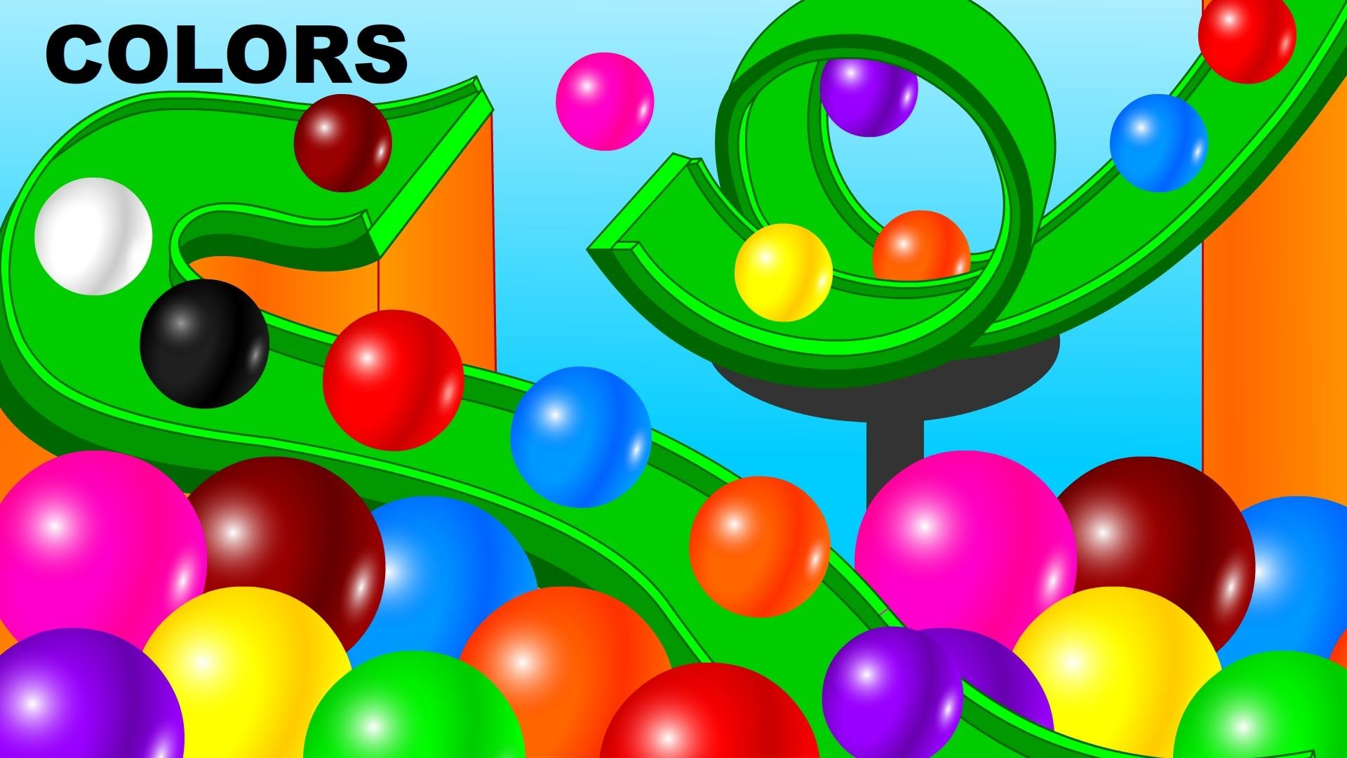 Learn Colors for Children Baby Toddlers Kindergarten Kids 3D Colors ...
