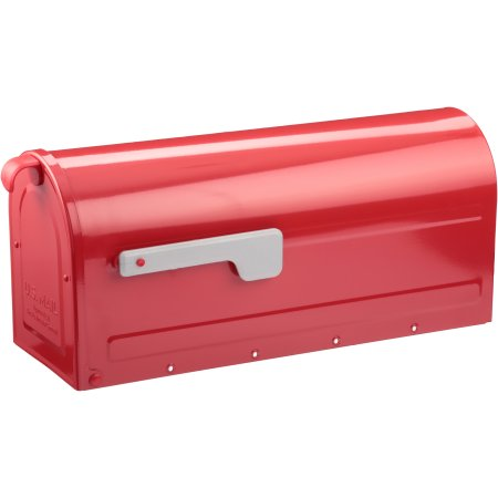 Architectural Mailboxes Red Mb1 Post Mount Mailbox With Silver Flag Mounted Mailbox Architectural Mailboxes Mailbox
