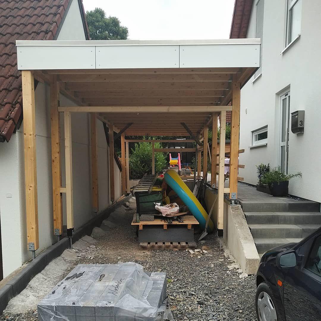 Einfahrt Mit Uberdachung Vorm Tor Garage Carport Diy Handmade Homeworx Woodworking Holz Ein Holzbearbeitung Werkbank Holzbearbeitung Holzarbeiten Plane