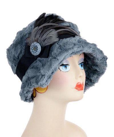 c76346805994a8 Abigail Style Hat – Cuddly Faux Fur in Slate - Medium / 1 & F16-04 & B16-1  - Hats - Pandemonium Millinery