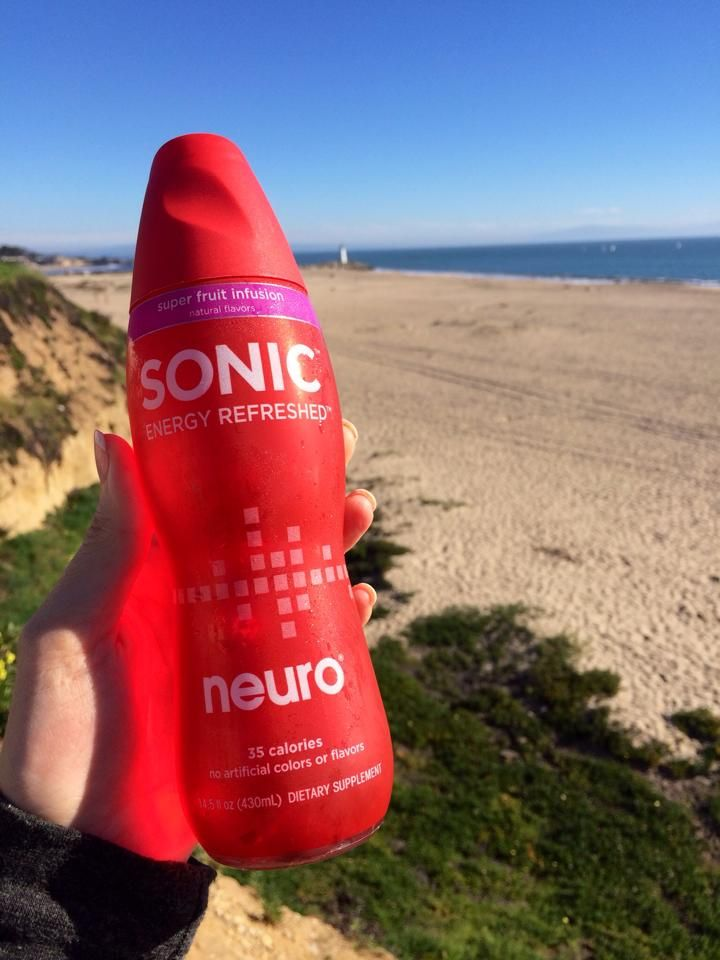 A cold sonic and a cool ocean breeze on a winters day