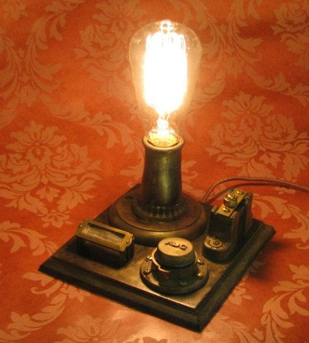 Edison Conrow Desk Lamp Vintage Antique Light Victorian Industrial