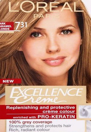 Loreal Paris Excellence Hair Colourant Dark Caramel Blonde 7 31